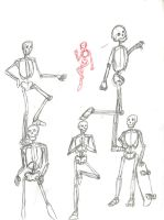 Some-more Skeleton Study Sketches by Poorartman