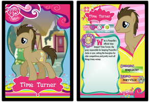 Custom Time Turner (Doctor Whooves) trading card by Chris3123
