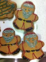 Gingerbread Santa's by CrIms0nCloVeR