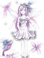 Purple Fairy - Adoptable [open] by chicharrria