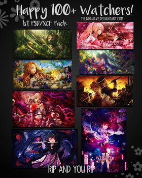 PSD/XCF Pack 1 - Happy 100+ Watchers! by Thundawave