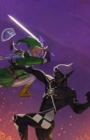 Link vs Ghirahim: no logo by envidia14