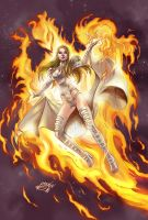 Commission Combo2: Emma Frost Pheonix Five color by MatiasSoto