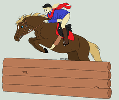 Casey First Jump by Golden-Apple-Acres