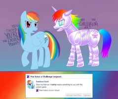 Robot Unicorn Attack meets MLP by Raining-Cupcakes