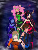 OC Hallowinx Group by DragonAnalei