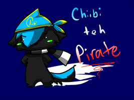 Chiibi teh Pirate by Spottedfire-cat