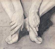 My brother's hands and feet by ThoughtSnow