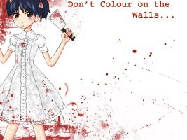 Dont Colour on the Walls by DarkDevi