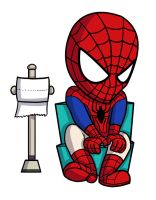 Spiderman poo by Samholy