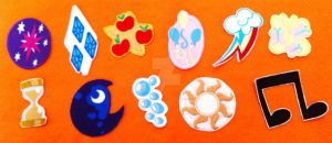 MLPFIM Embroidered Cutie Mark Patches by mozellefourniquet