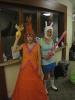 Adventure time Flame Princess and Fionna cosplay by cubseidl