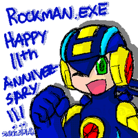 Oekaki: Rockman.EXE 11th Anniversary by SLiDER-chan