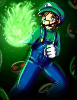 Luigi's Big Green Candle by YunaSakura