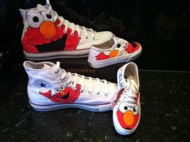 Elmo Converse and Vans by VeryBadThing