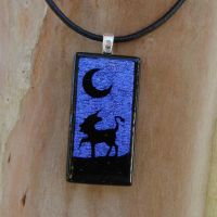 Unicorn Night Fused Glass by FusedElegance