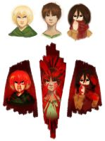 We're painted red to fit right in by cookiekhaleesi