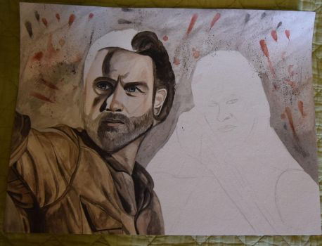 The Walking Dead WIP by Inlacrimas