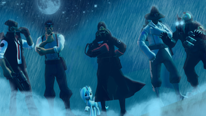 Moonlight rain. (group pic number48271522567 LOL ) by zOMG-a-DropBear