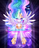 Celestia's might by CaramelFlower