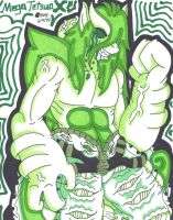 Mega Tetsuo X: The Green Devil, Reborn by ShyDeathKitty