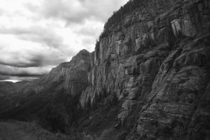 Mountain Pass BW by RollingFishays