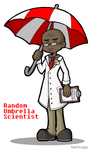 Random Umbrella Scientist by DoubleLeggy