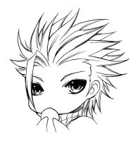 Lineart For Share - 09 Final Fantasy Zack Sweet by TashaChan