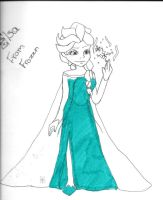 Elsa from frozen by gblcanyon