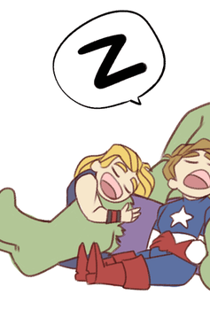 Avengers - Power Nap by cartoonjunkie