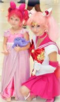 Small Lady and Sailor Chibi Moon by Hamm-Sammich
