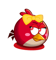 My version of female red bird (ruby) by kris624