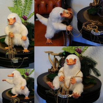 Albino Niffler by FellKunst