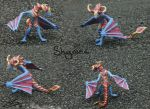 Shyvana sculpey model by Jassylaw
