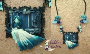 Corpse bride cameo polymer clay by Nakihra