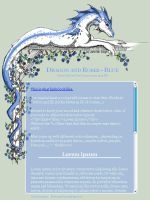 CSS Dragon and Roses - Blue by jennyleigh