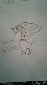 Monigorn (Colored [Color Pencils], Penned) by suckerforfakemon
