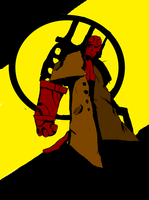 Jon's hellboy coloured by peekflow666