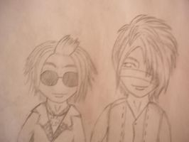 Ruki And Reita by JackieTakanori