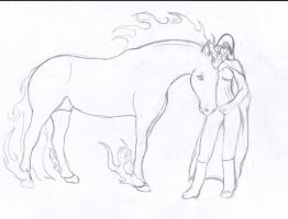 Kali and her Steed by ForeverFallen16