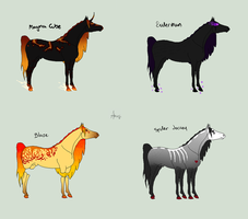 Minecraft themed horses by SubterraneanStables