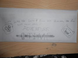 My Adventure Time letter to a friend xP by BaltoTheShadowHusky