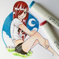 Erza  by matyosandon