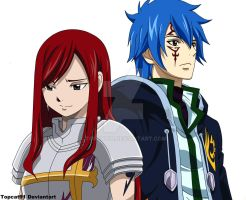 Erza and Jellal by TOPCAT91
