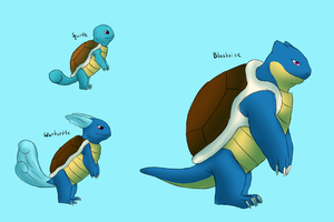 Squirtle Evolution by Morgan-Michele