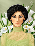 The Lady with the Callas by Fayen-ri