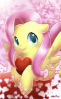 Fluttershy Valentine by PegaSisters82