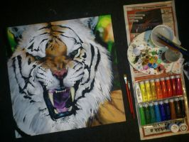 Tiger Painting for request FINISHED by turanneth