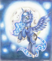 Luna - princess of the night by Evomanaphy