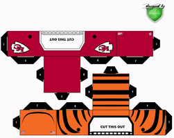 chiefs bengals helmets by 1madhatter